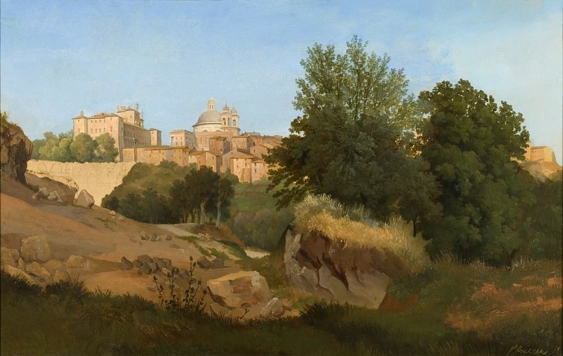 Gustaf Wilhelm Palm - View of Ariccia. Los Angeles County Museum of Art (LACMA)