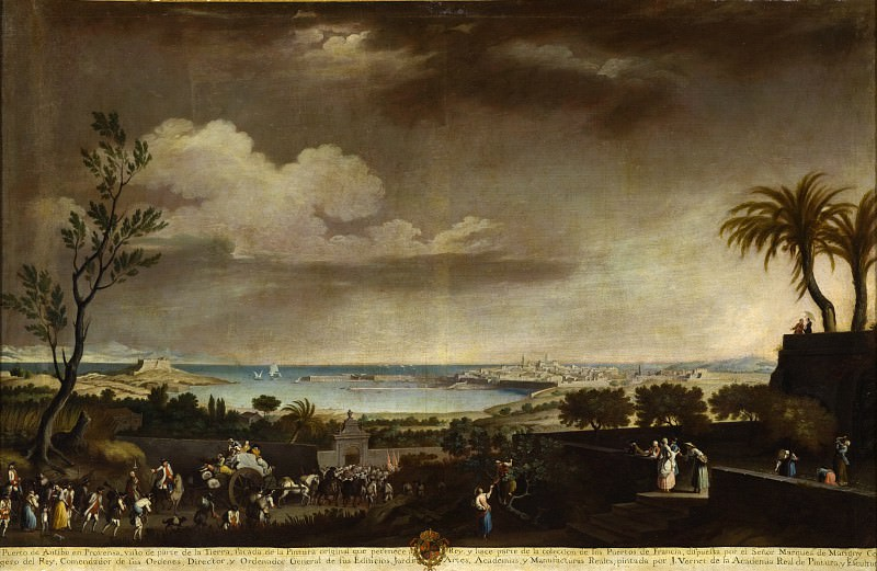 Juan Patricio Morlete Ruiz - View of the Port of Antibes (El puerto de Antibes). Los Angeles County Museum of Art (LACMA)