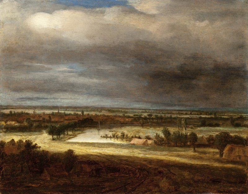 Philips Koninck - Panoramic Landscape with a Village. Los Angeles County Museum of Art (LACMA)