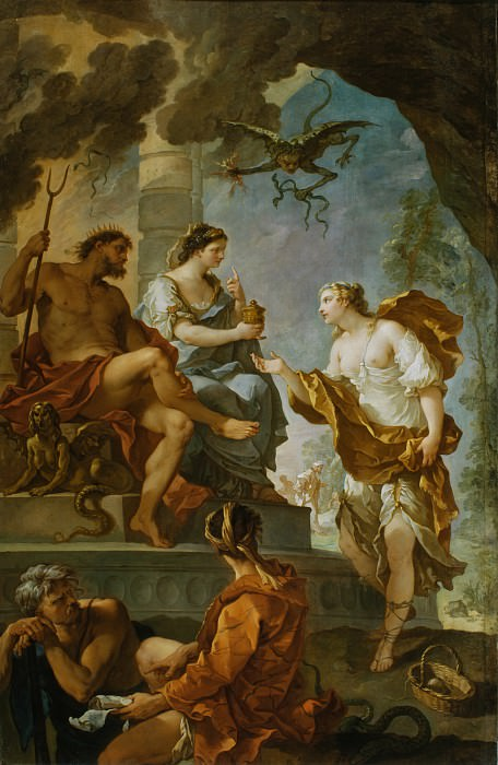 Charles-Joseph Natoire - Psyche Obtaining the Elixir of Beauty from Proserpine. Los Angeles County Museum of Art (LACMA)