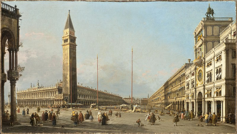 called Canaletto Antonio Canal - Piazza San Marco Looking South and West. Los Angeles County Museum of Art (LACMA)