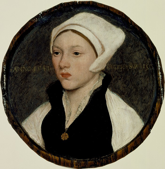 Hans Holbein the Younger - Portrait of a Young Woman with a White Coif. Los Angeles County Museum of Art (LACMA)