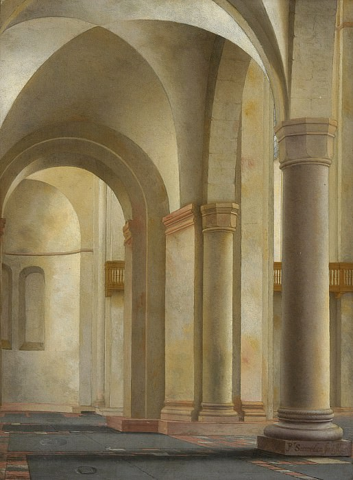 Pieter Jansz. Saenredam - Interior of the Mariakerk, Utrecht. Los Angeles County Museum of Art (LACMA)