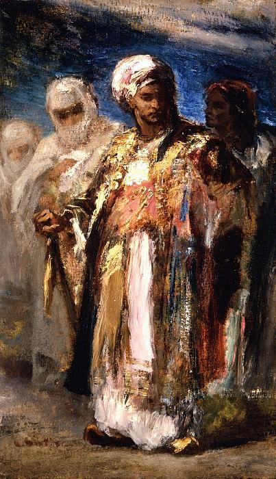 Narcisse-Virgile Diaz de la Pena - Men in Oriental Costumes. Los Angeles County Museum of Art (LACMA)