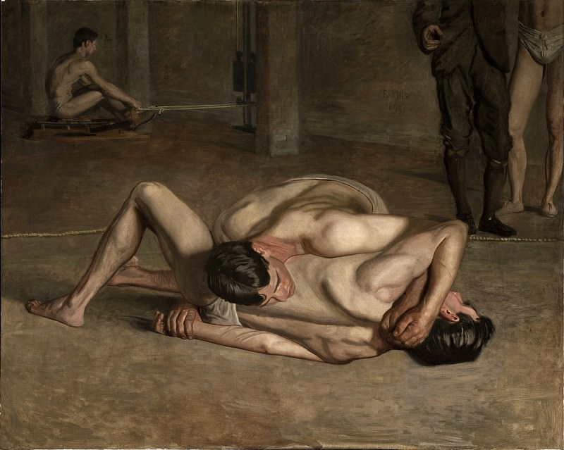 Thomas Eakins - Wrestlers. Los Angeles County Museum of Art (LACMA)