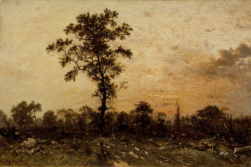 Pierre Etienne Theodore Rousseau - Edge of the Forest, Sun Setting. Los Angeles County Museum of Art (LACMA)