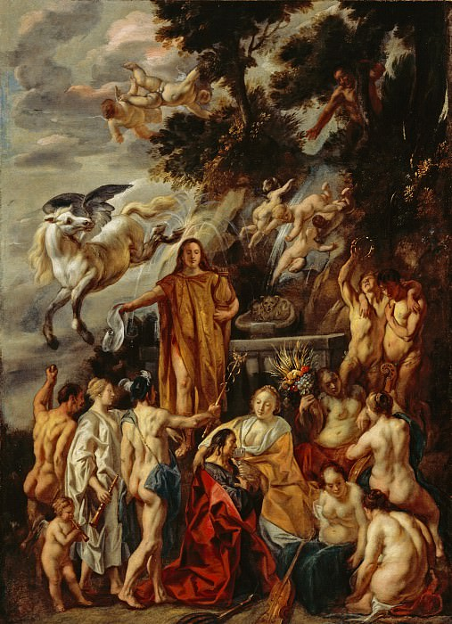 Jacob Jordaens - Allegory of the Poet. Los Angeles County Museum of Art (LACMA)
