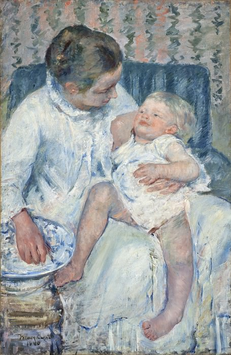 Mary Cassatt - Mother About to Wash Her Sleepy Child. Los Angeles County Museum of Art (LACMA)