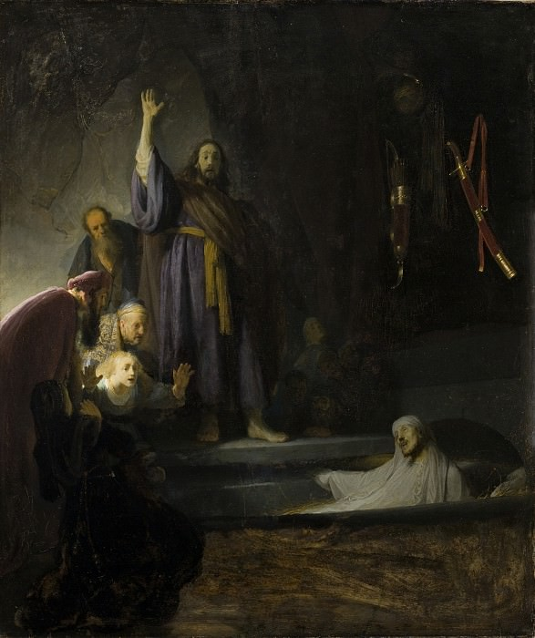 Rembrandt Harmensz. van Rijn - The Raising of Lazarus. Los Angeles County Museum of Art (LACMA)