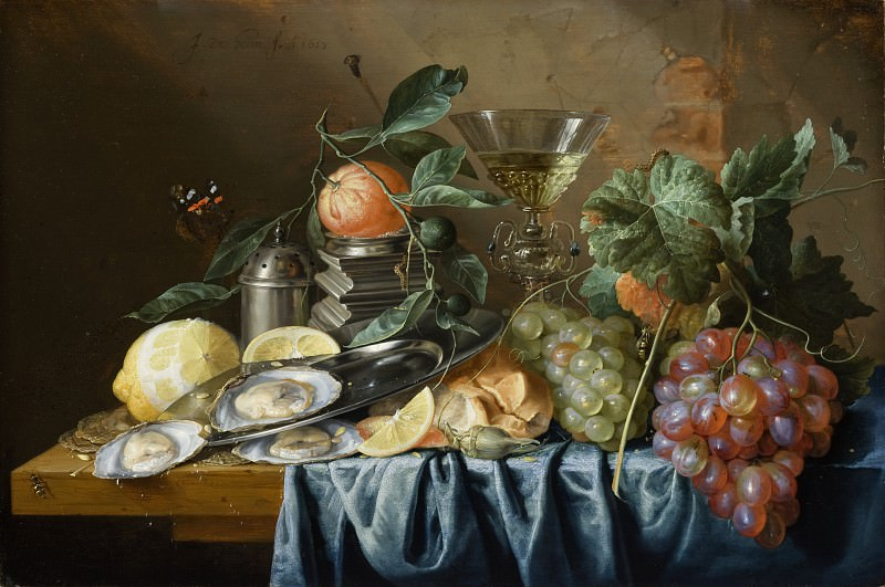 Jan Davidsz de Heem - Still Life with Oysters and Grapes. Los Angeles County Museum of Art (LACMA)