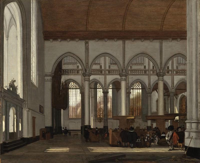 Emmanuel de Witte - Interior of the Oude Kerk, Amsterdam. Los Angeles County Museum of Art (LACMA)