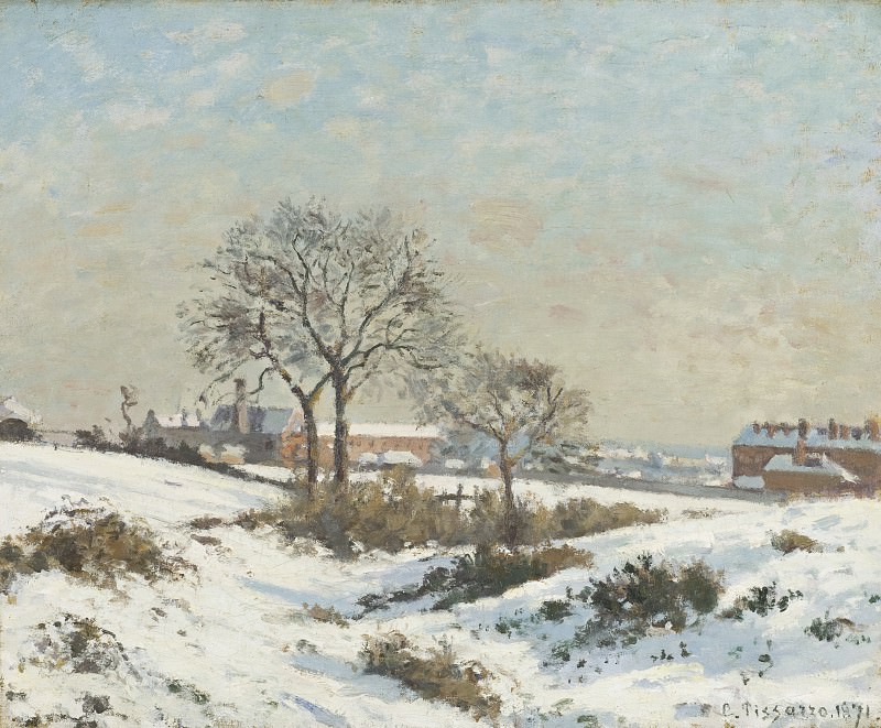 Camille Pissarro - Snowy Landscape at South Norwood. Los Angeles County Museum of Art (LACMA)