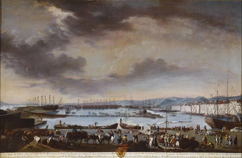 Juan Patricio Morlete Ruiz - View of the Old Port of Toulon (El puerto viejo de Tolon). Los Angeles County Museum of Art (LACMA)