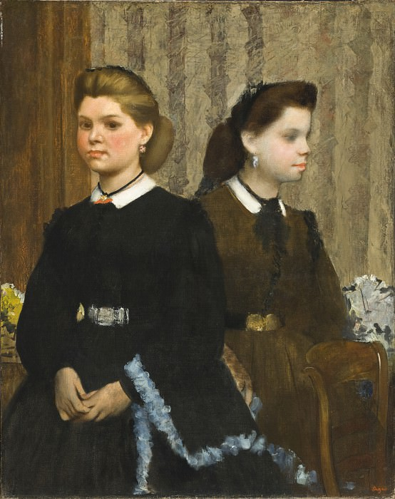 Edgar Degas - The Bellelli Sisters (Giovanna and Giuliana Bellelli). Los Angeles County Museum of Art (LACMA)
