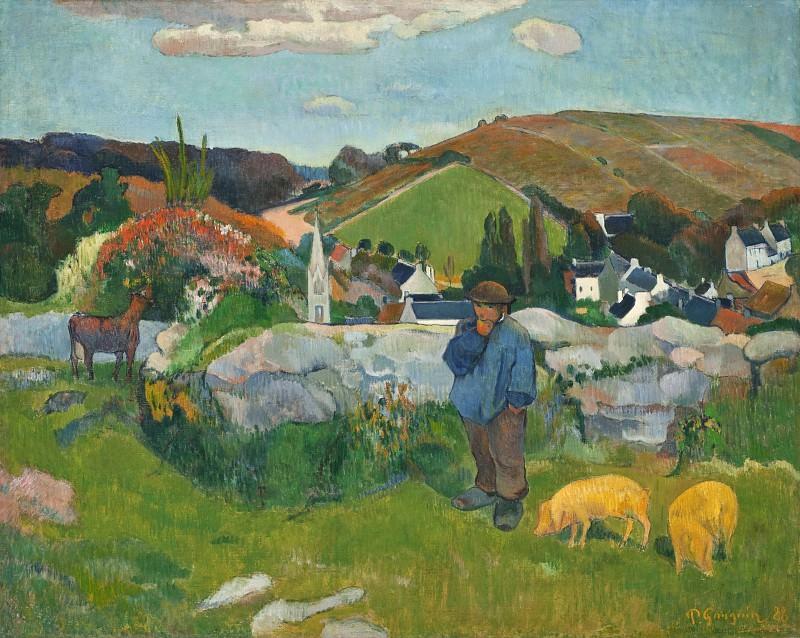 Paul Gauguin - The Swineherd. Los Angeles County Museum of Art (LACMA)