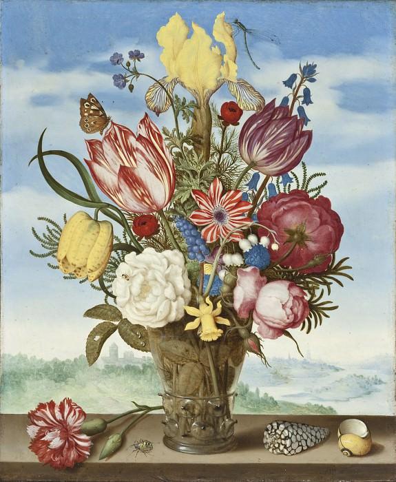 Амброзиус Боссхарт - Букет цветов на полке. Окружной художественный музей (LACMA) ~ Лос-Анджелес