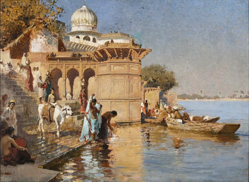 Edwin Lord Weeks - Along the Ghats, Mathura. Los Angeles County Museum of Art (LACMA)