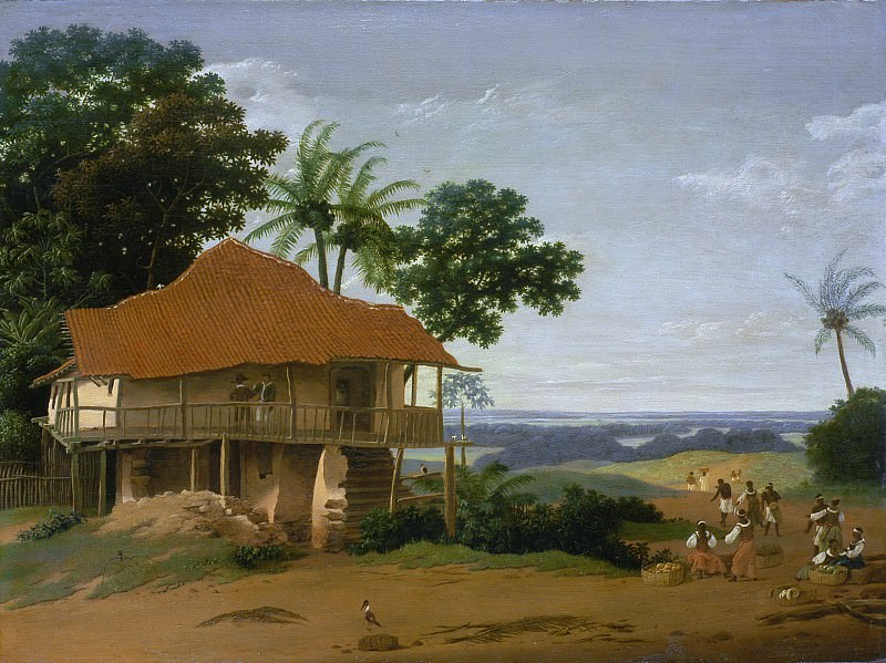 Frans Post - Brazilian Landscape with a Worker′s House. Los Angeles County Museum of Art (LACMA)