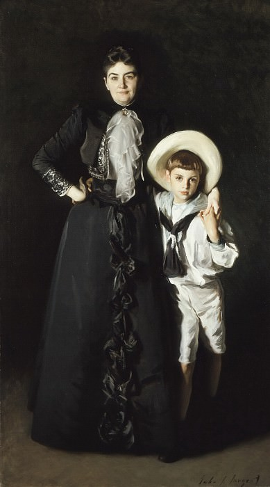 John Singer Sargent - Portrait of Mrs. Edward L. Davis and Her Son, Livingston Davis. Los Angeles County Museum of Art (LACMA)