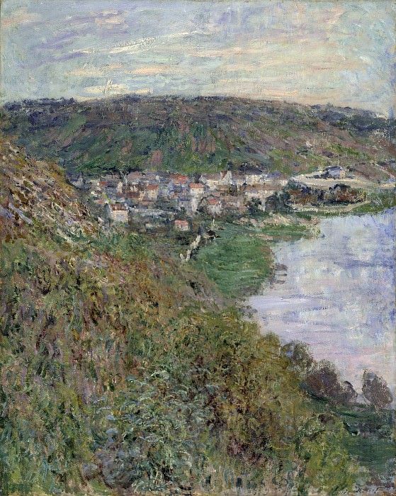Claude Monet - View of Vetheuil. Los Angeles County Museum of Art (LACMA)
