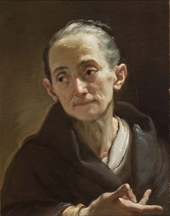 Убальдо Гандольфи - Голова старой женщины. LACMA (Лос Анджелес)