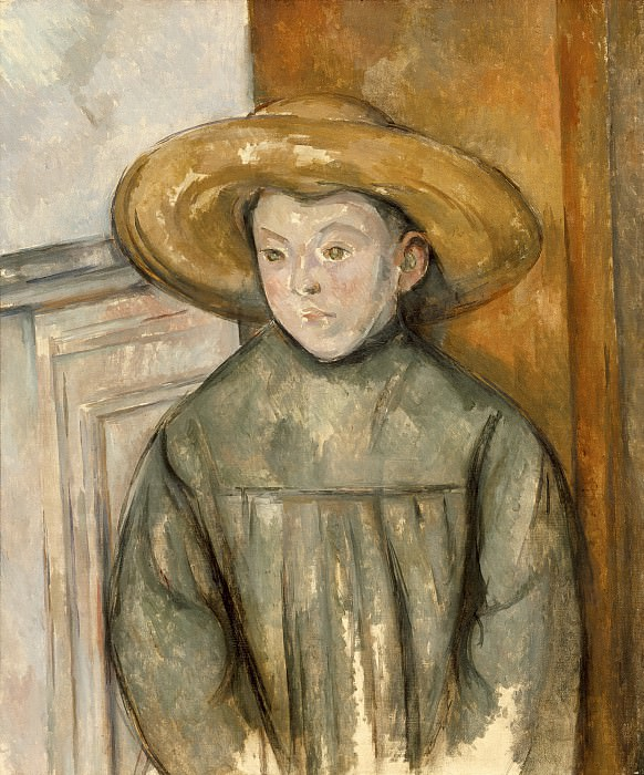Paul Cezanne - Boy With a Straw Hat. Los Angeles County Museum of Art (LACMA)