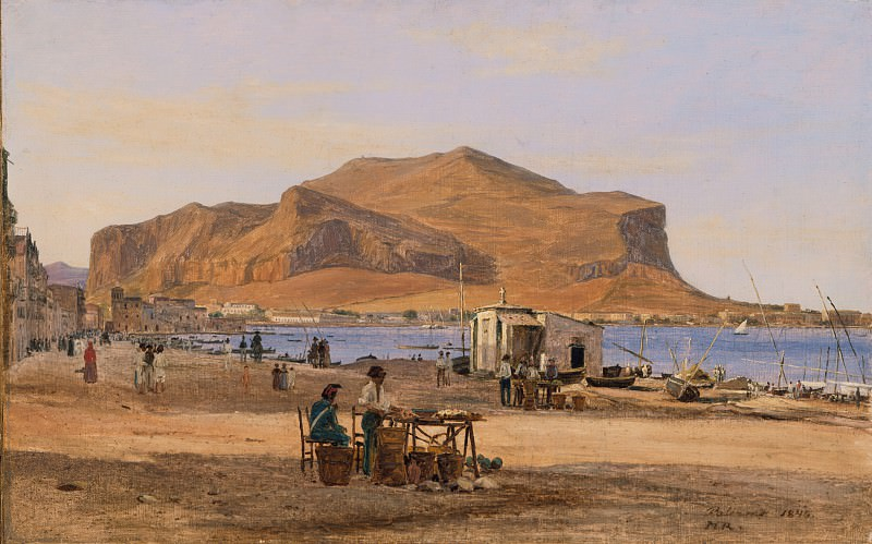 Martinus Rorbye - Palermo Harbor with a View of Monte Pellegrino. Los Angeles County Museum of Art (LACMA)