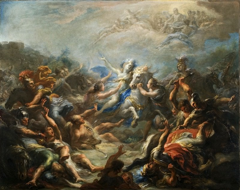 Giacomo del Po - Camillia at War from Virgil′s Aeneid. Los Angeles County Museum of Art (LACMA)