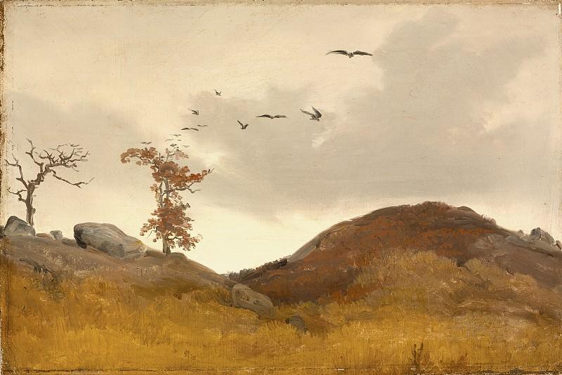 Лессинг, Карл Фридрих - Пейзаж с воронами. LACMA (Лос Анджелес)