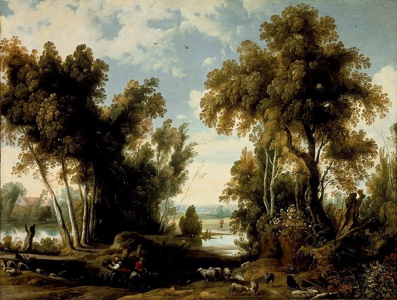 Ян Вильденс - Пейзаж с крестьянами. LACMA (Лос Анджелес)