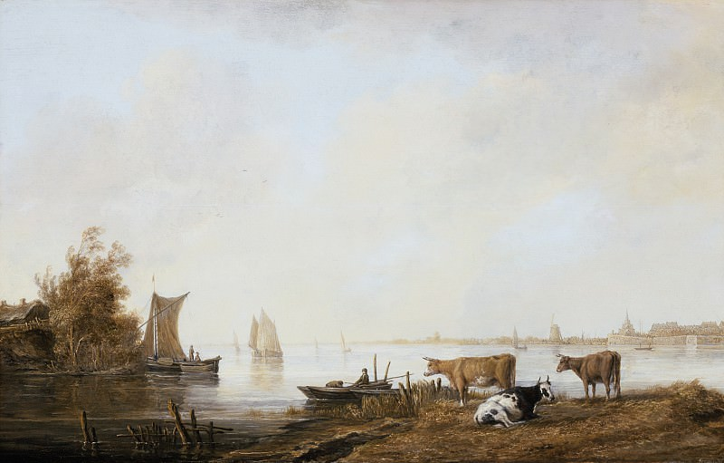 Aelbert Cuyp - View of the Maas near Dordrecht. Los Angeles County Museum of Art (LACMA)