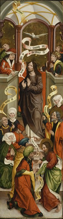 Jan Polack - Christ Preaching in the Temple (one of four panels). Los Angeles County Museum of Art (LACMA)