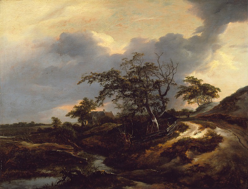 Jacob van Ruisdael - Landscape with Dunes. Los Angeles County Museum of Art (LACMA)