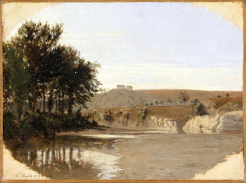 Louis-Leopold Boilly - View of a Lake. Los Angeles County Museum of Art (LACMA)