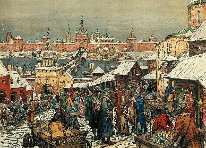 Vasnetsov Apollinary - Novgorod bargaining. 900 Classic russian paintings