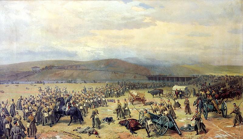 Nikolai Dmitriev-Orenburgsky - The last battle at Plevna November 28, 1877. 900 Classic russian paintings