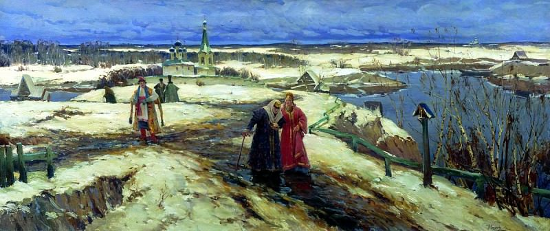 VESCHILOV Constantine - Return of the church. 900 Classic russian paintings