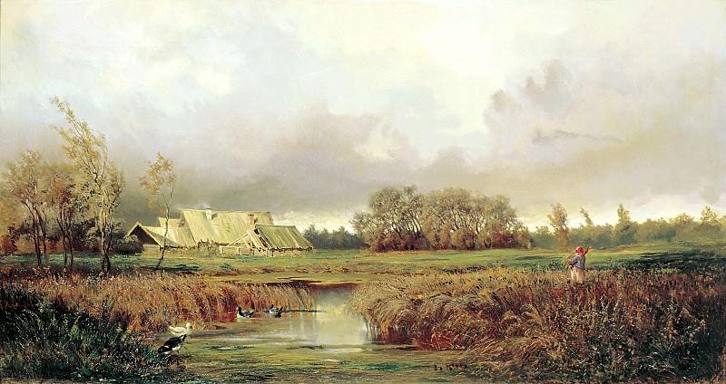 VOLKOV Yefim - Swamp autumn. 900 Classic russian paintings