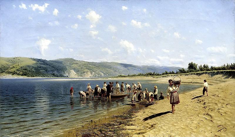 SERGEEV Nick - Tonya on the Dnieper. 900 Classic russian paintings