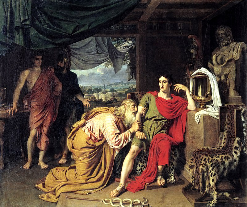 Ivan Alexander - Priam, Achilles sought from the body of Hector. 900 Classic russian paintings