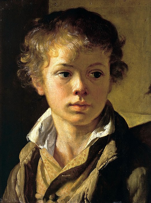 Tropinin Vasily - Portrait of Arseny Vasilyevich Tropinin, son of the artist. Around 1818. 900 Classic russian paintings