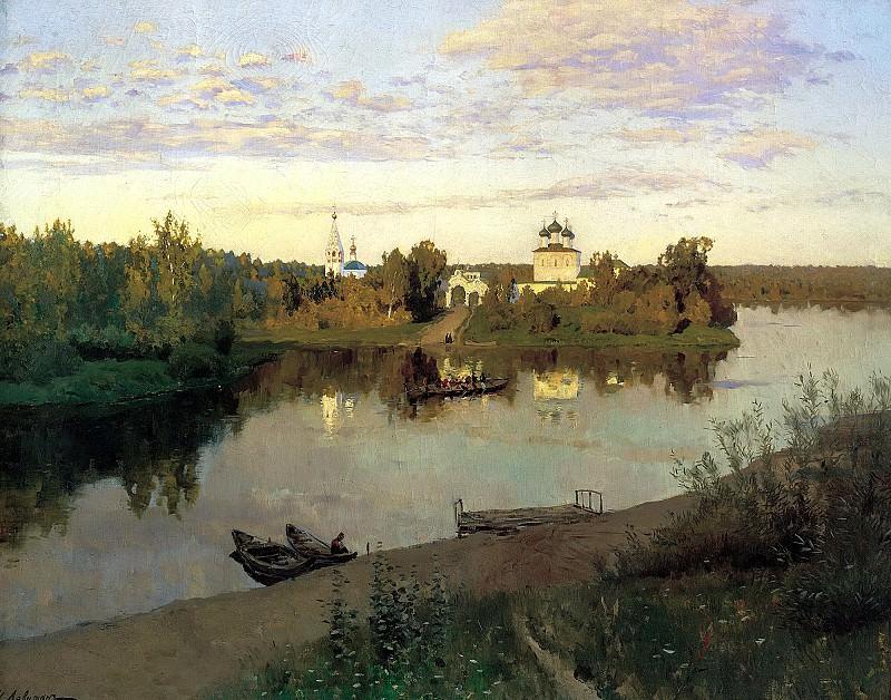 ЛЕВИТАН Исаак - Вечерний звон. 900 Картин самых известных русских художников