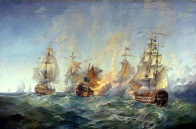 БЛИНКОВ Александр - Сражение у острова Тендра 28-29 августа 1790 года. 900 Картин самых известных русских художников