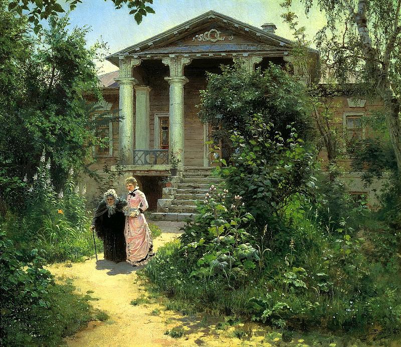 Polenov Vasili - Grandmas Garden. 900 Classic russian paintings