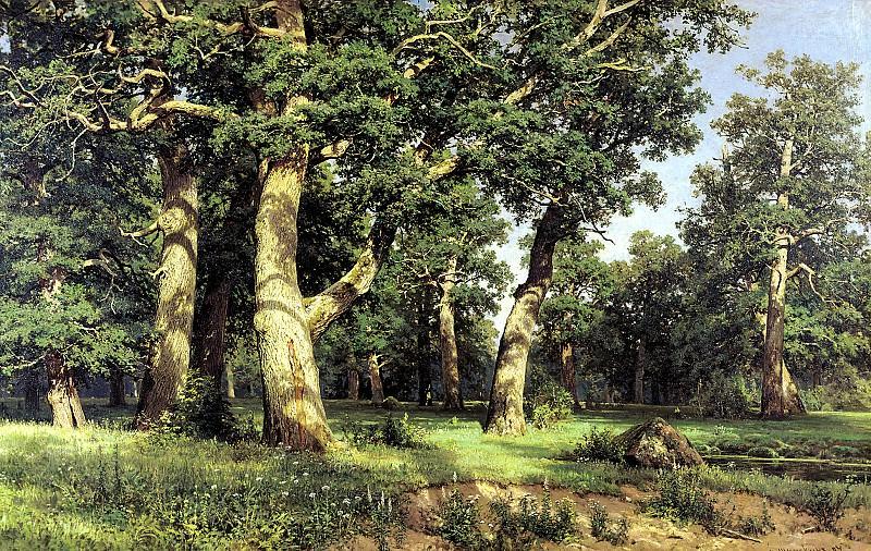 Shishkin Ivan - Oak Grove. 900 Classic russian paintings