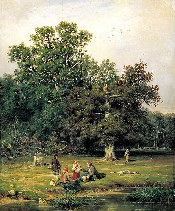 Shishkin Ivan - For the mushroom. 900 Classic russian paintings