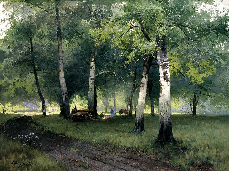 Schilder Andrew - Birch forest. 900 Classic russian paintings