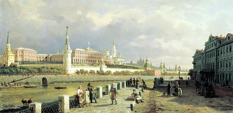 VERESHCHAGIN Peter - Type of the Moscow Kremlin. 900 Classic russian paintings