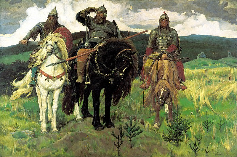 Viktor Vasnetsov - Giants (Heroes). 900 Classic russian paintings