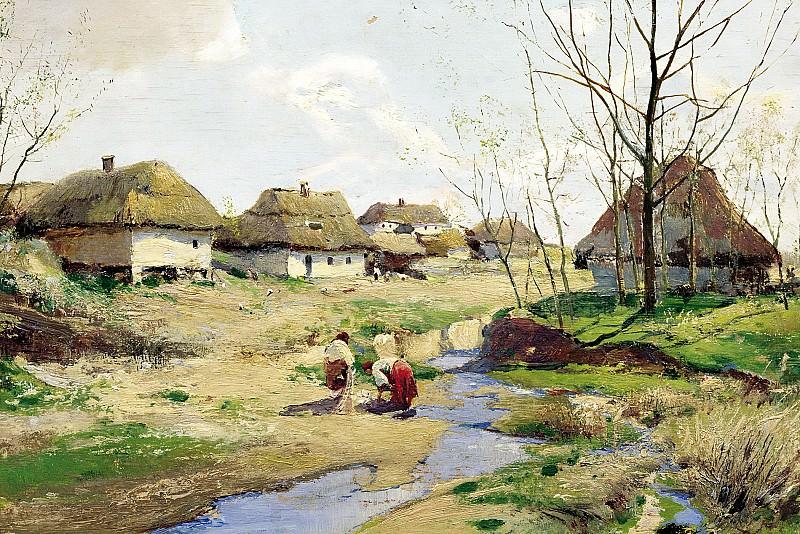 Vasilkovsky Sergey - Spring Day in Ukraine. 900 Classic russian paintings
